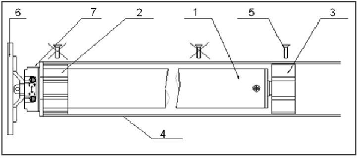 1 -внутривальный электропривод