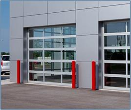 Панорамные секционные гаражные ворота
